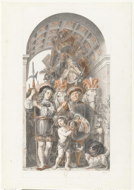 Allegorische triomftocht voor de stadhouder Frederik Hendrik
