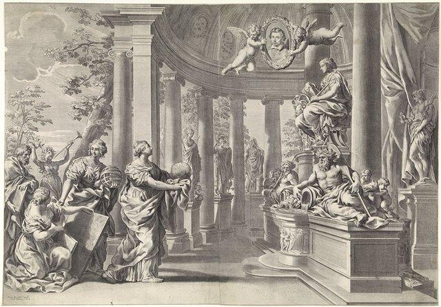 Allegorische voorstelling: de tempel van wijsheid (Sapienta)