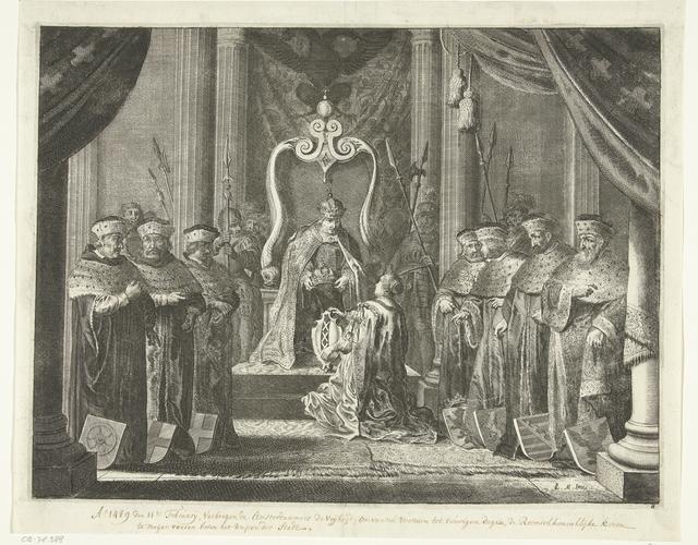 Amsterdam ontvangt de keizerskroon van keizer Maximiliaan