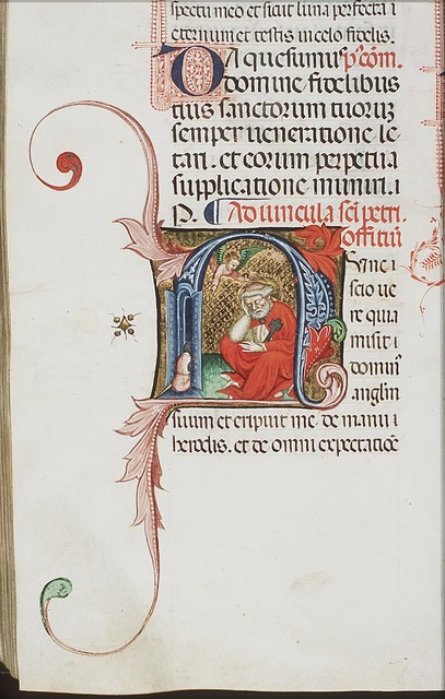An angel appears to St. Peter in prison, summoning him to wake up
