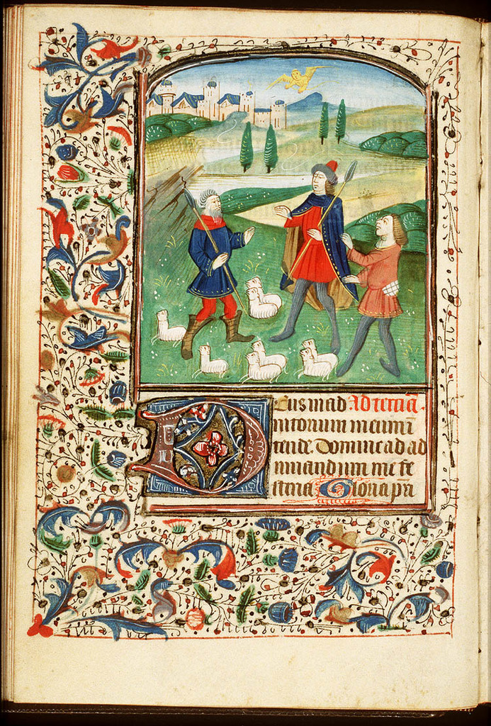 Annunciation of Christ's birth to the shepherds