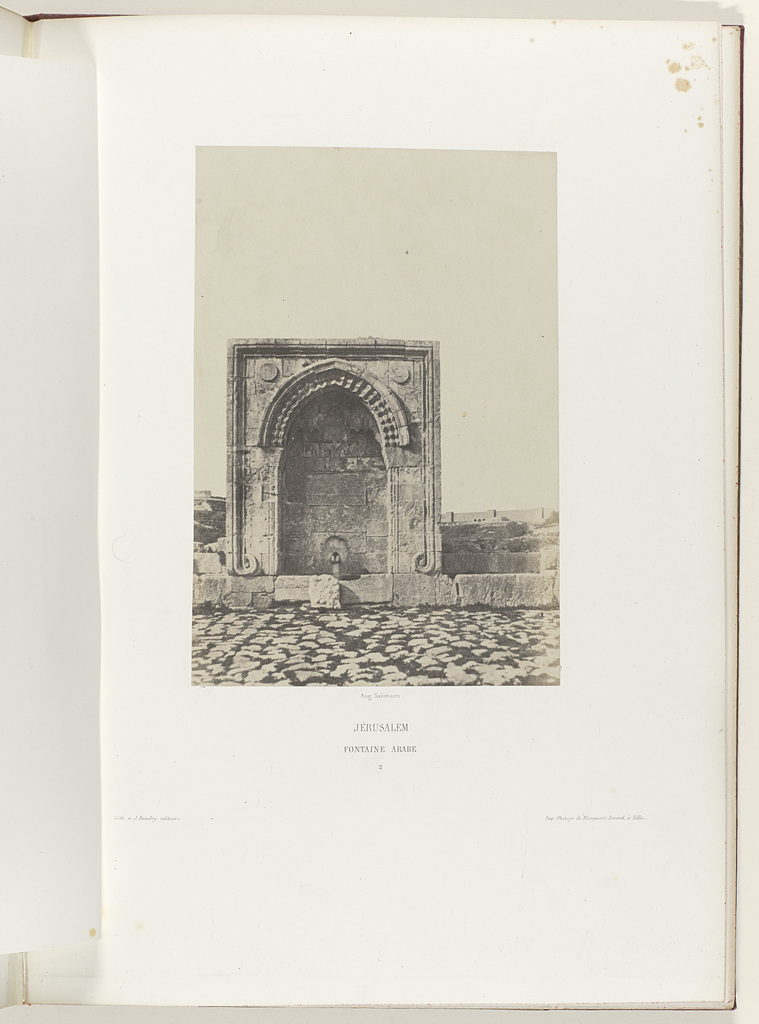 Arabische fontein te Jeruzalem (Jérusalem / Fontaine Arabe)