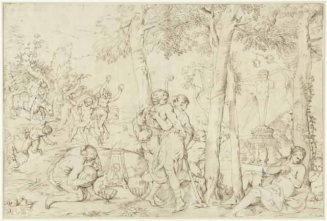 Bacchanaal met herderspaar