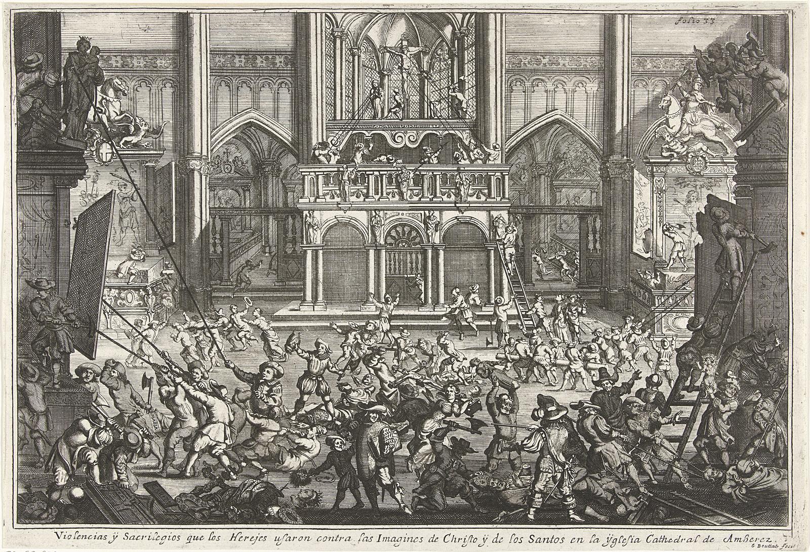 Beeldenstorm in de Onze-Lieve-Vrouwekathedraal te Antwerpen, 1566