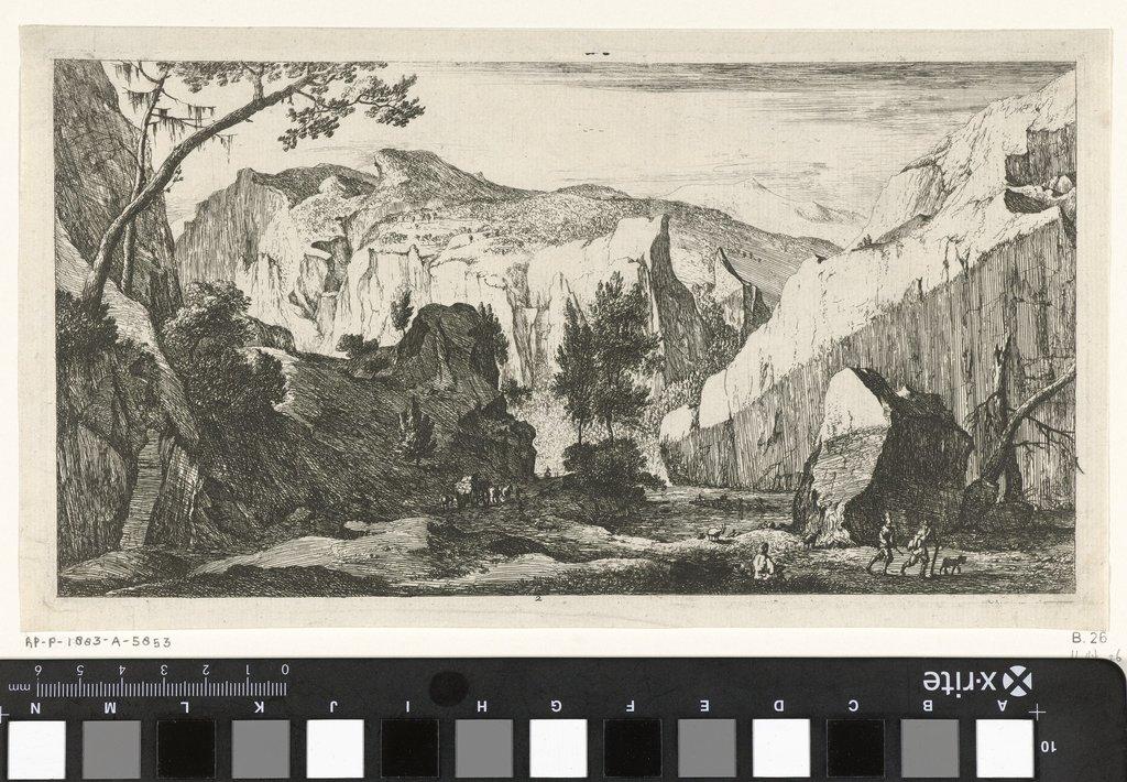 Berglandschap met rotsen