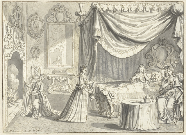 Bevalling van de keurvorstin van Saksen te Pillnitz, 24 oktober 1721