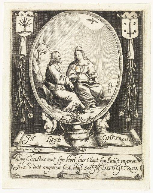 """Blasoen van de Rederijkerskamer """"De witte Angieren"""" te Haarlem"""