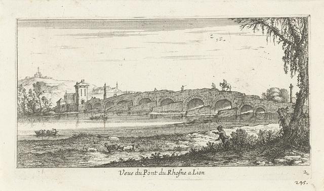 Brug over de Rhône nabij Lion