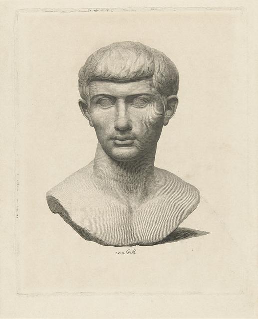 Buste van sculptuur van man
