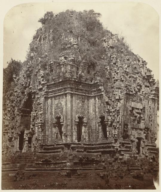 Candi Kalasan (Buddhist), general view from the northeast. Kalasan, Yogyakarta district, D.I. Yogyakarta province, 8th -9th century.