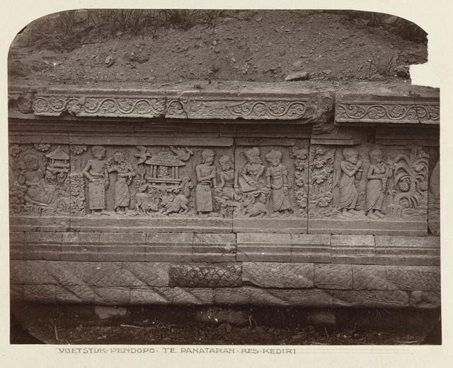 Candi Panataran (Temple Complex), Pendopo Terrace, unidentified reliefs 66-70 (Partly Sri Tanjung'story; inscription above no 68 reads mahisa), westside.