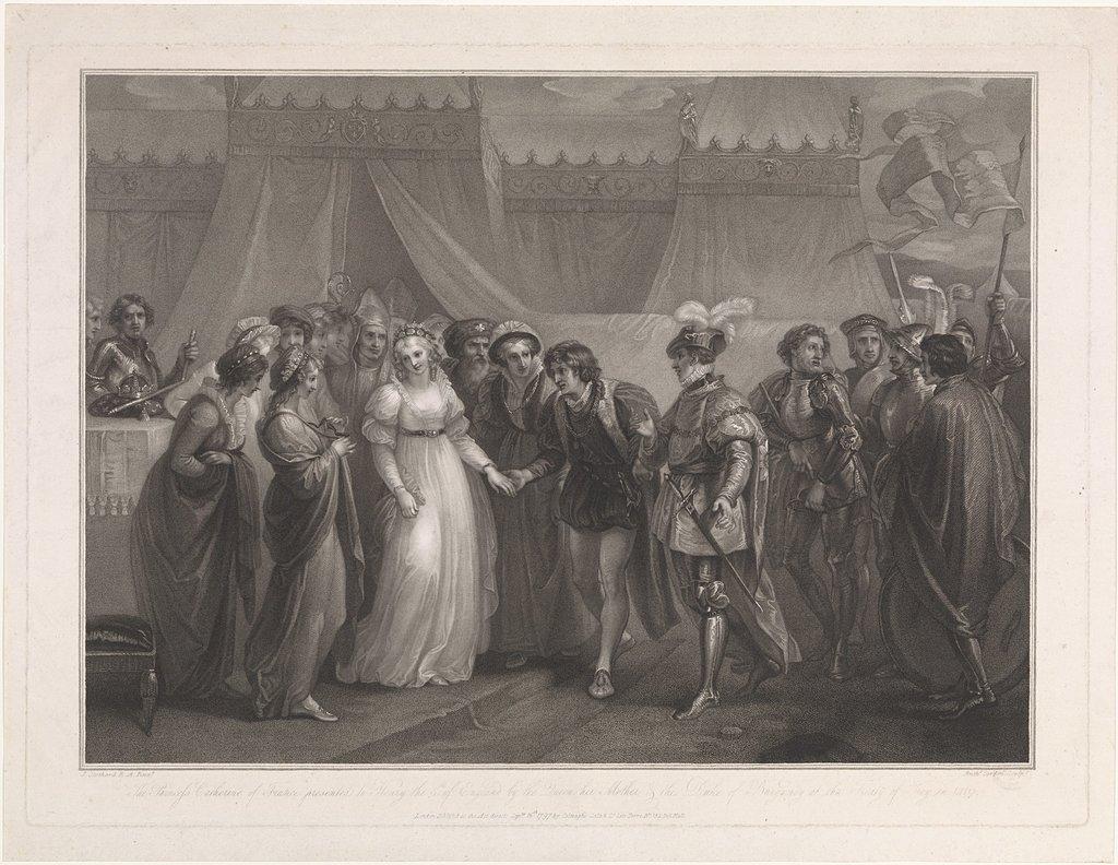 Catherine van Valois en koning Hendrik V van Engeland