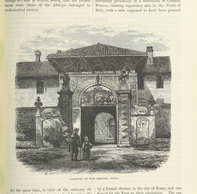 """Certosa di Pavia from """"[Cassell's Illustrated Universal History.]"""""""