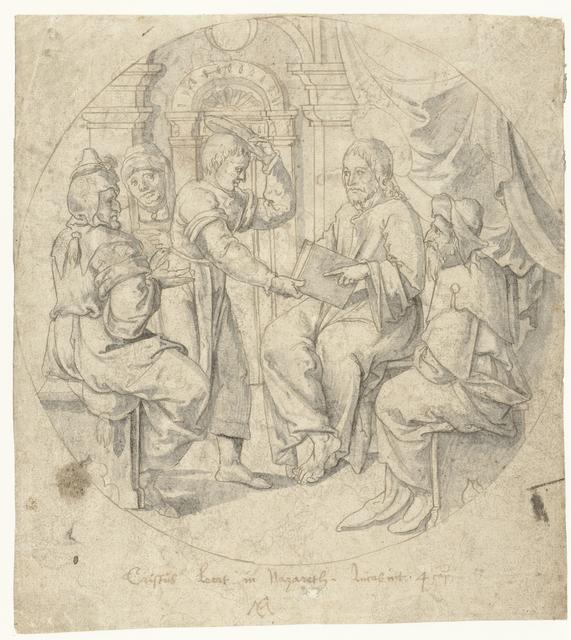Christus in de synagoge te Nazareth