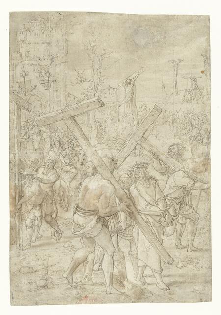 Christus op de weg naar de Calvarieberg