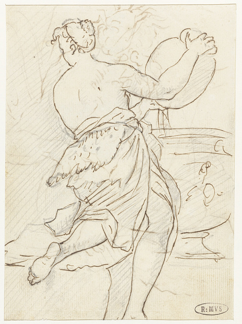 Dansende nimf of bacchante