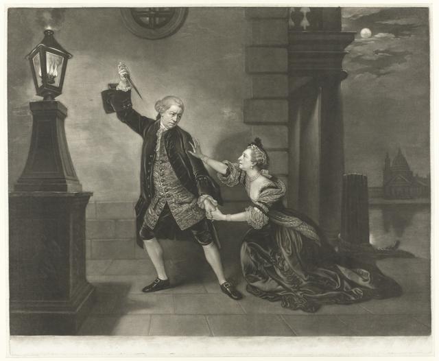 """David Garrick en Mrs. Cibber in """"Venice Preserved"""""""