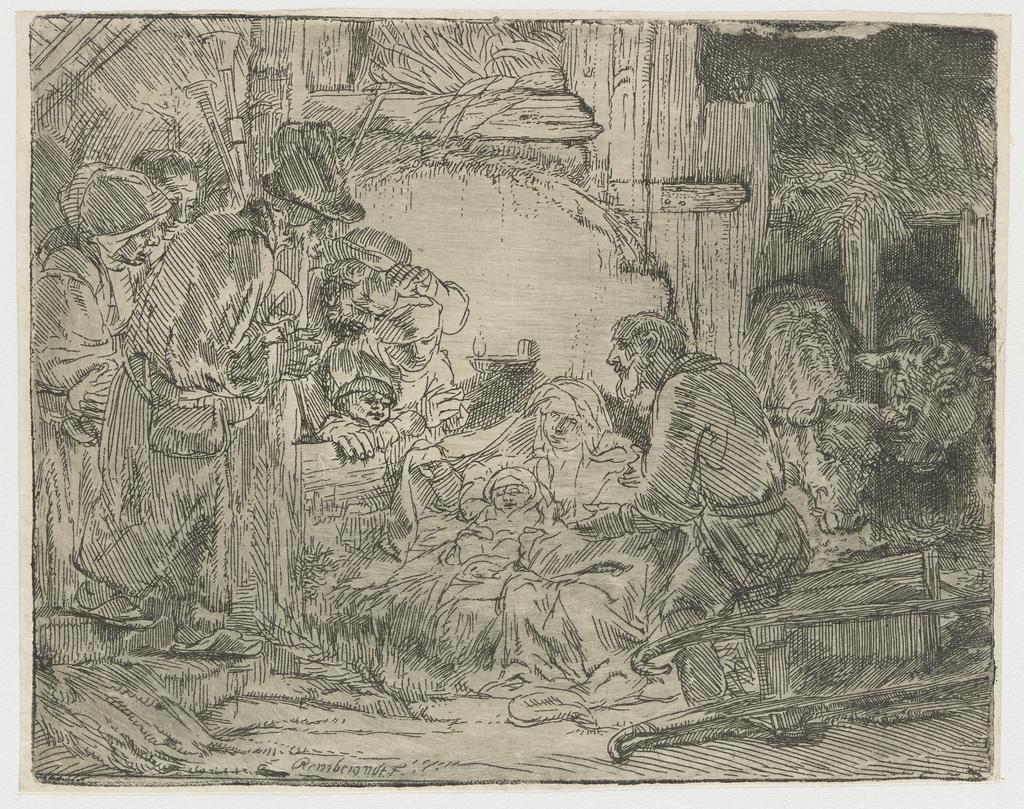 De aanbidding der herders: met de olielamp