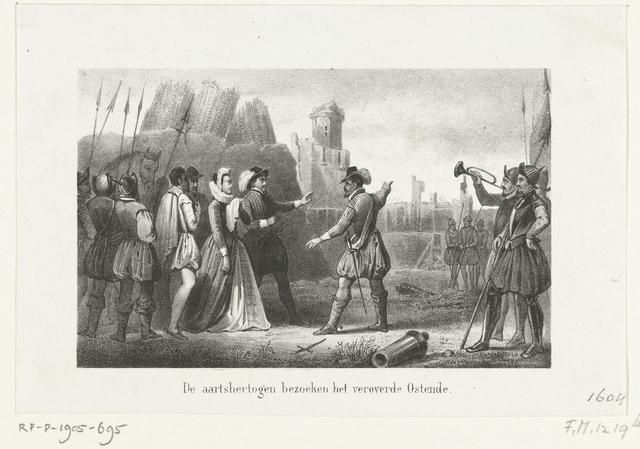De aartshertogen bezoeken het veroverde Oostende, 1604