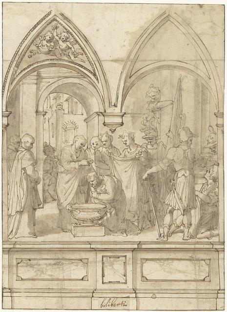De doop van de centurio, door Petrus