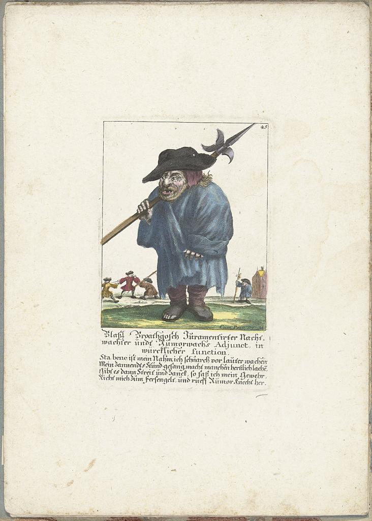 De dwerg Blaßl Broatgosch, ca. 1710