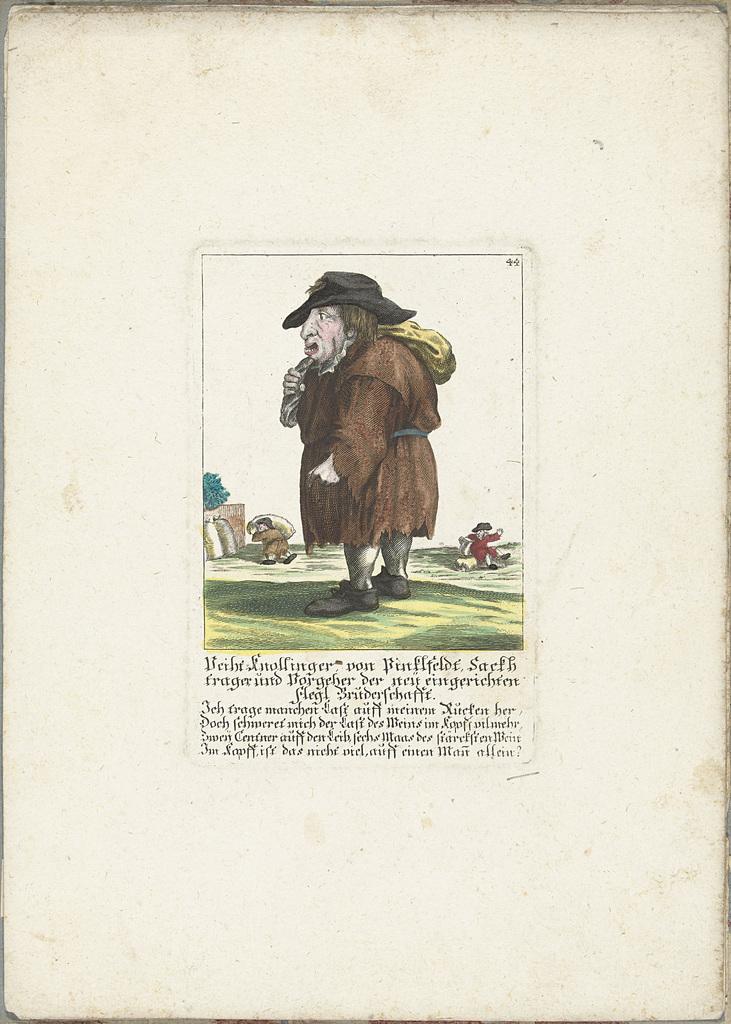 De dwerg Veith Knollinger von Pinklfeldt, ca. 1710