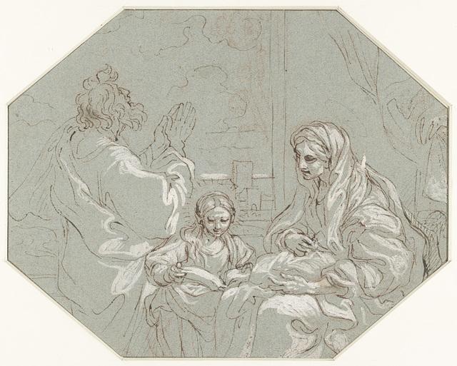 De heilige Anna leert Maria lezen