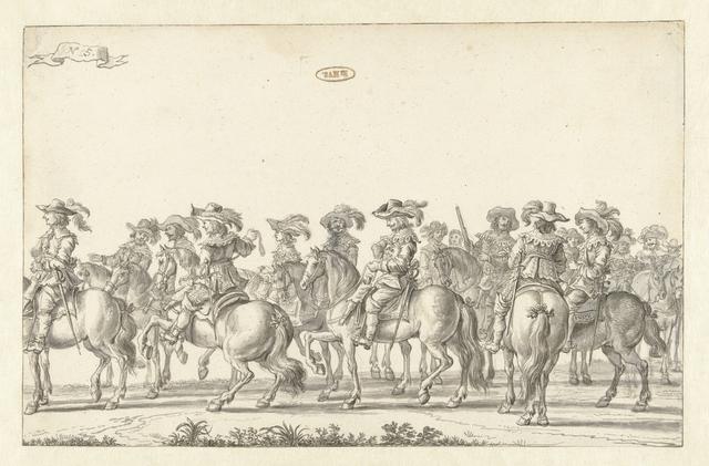 De intocht van Maria de' Medici te Amsterdam in 1638 (plaat 5)