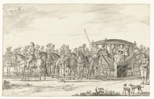 De intocht van Maria de' Medici te Amsterdam in 1638 (plaat 6)