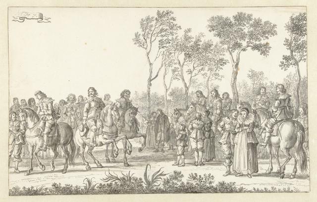 De intocht van Maria de' Medici te Amsterdam in 1638 (plaat 7)