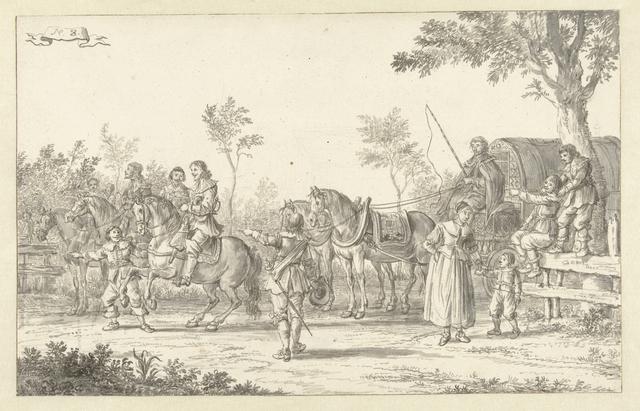 De intocht van Maria de' Medici te Amsterdam in 1638 (plaat 8)