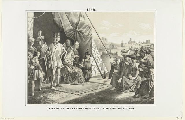 De inwoners van Delft smeken graaf Albrecht om vergiffenis, 1359