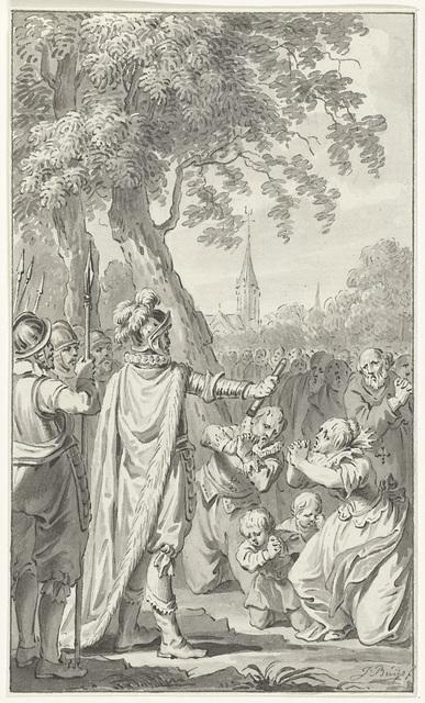 De inwoners van Zierikzee smeken Karel de Stoute, hertog van Bourgondië, om genade, 1472 (?)