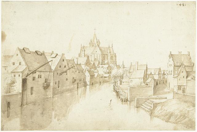 De kerk van Onze-Lieve-Vrouw-over-de-Dijle, te Mechelen
