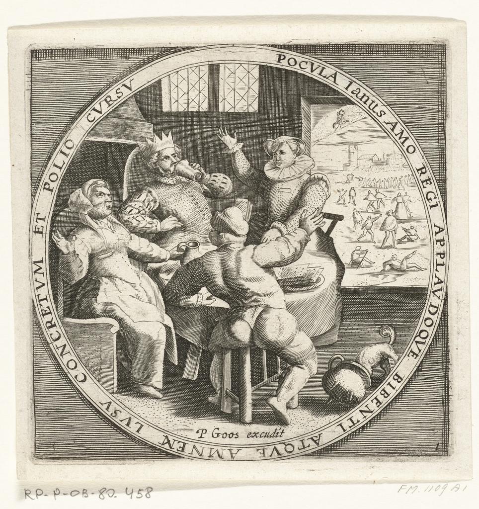 De maand januari, Driekoningen, ca. 1600
