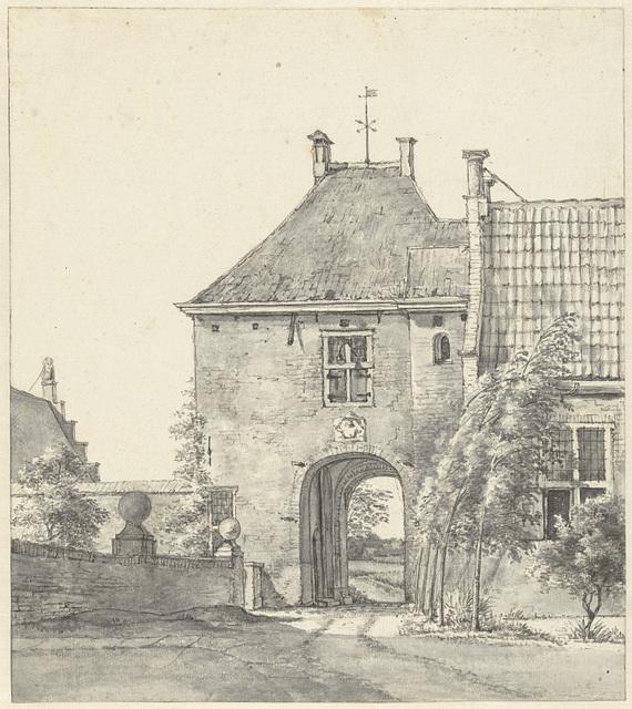 De poort van het kasteel Heemstede
