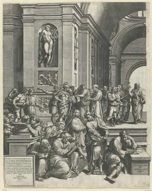 De School van Athene (linker deel)