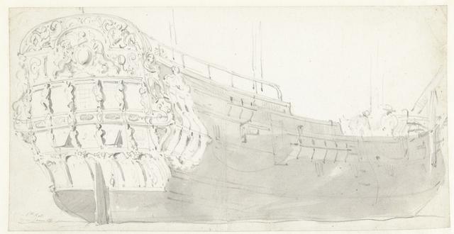 De spiegel van het Engelse schip James