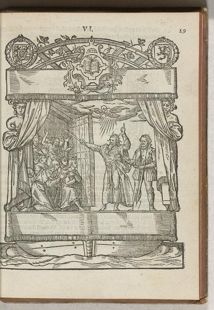 De voorstelling van Den Boeck: Mozes met de kinderen van Israël, 1577