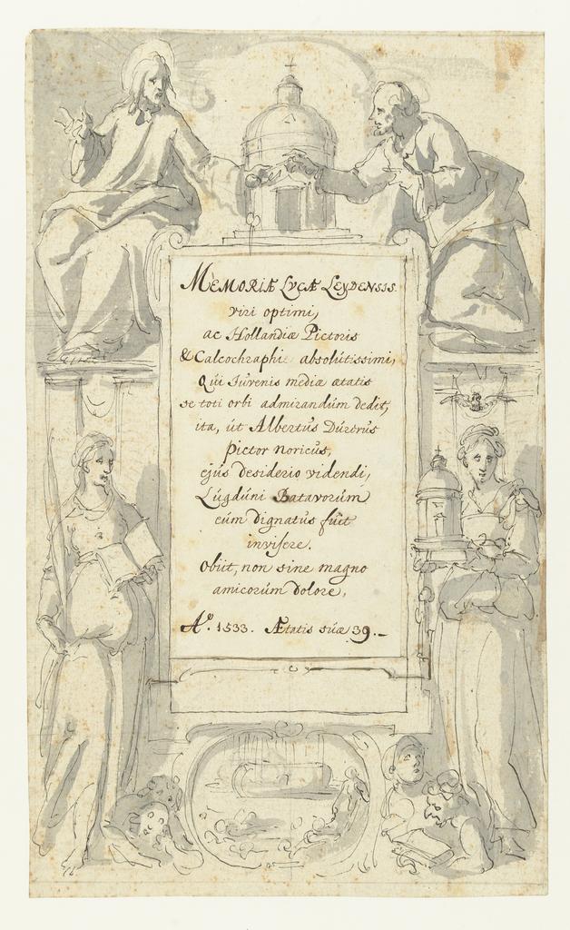 Dedicatie behorend bij Lucas van Leyden collectie