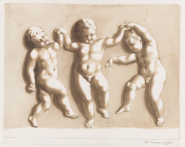 Drie dansende kinderen