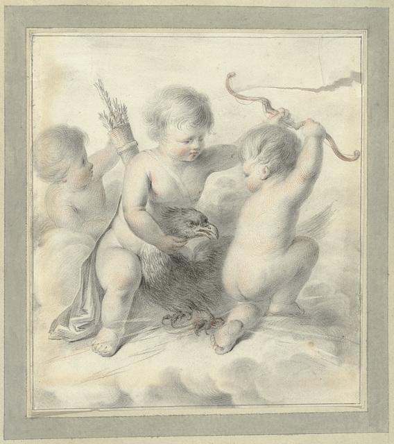 Drie putti met een adelaar