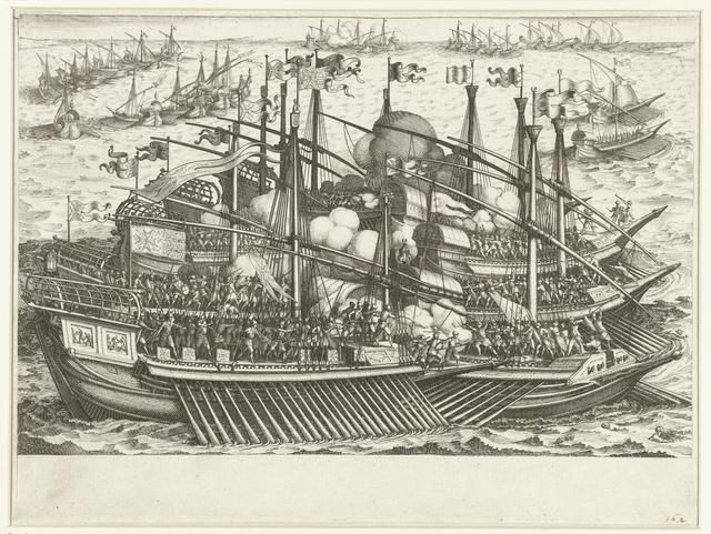 Eerste zeeslag van de vloot van Ferdinando I de' Medici tegen de Turkse vloot