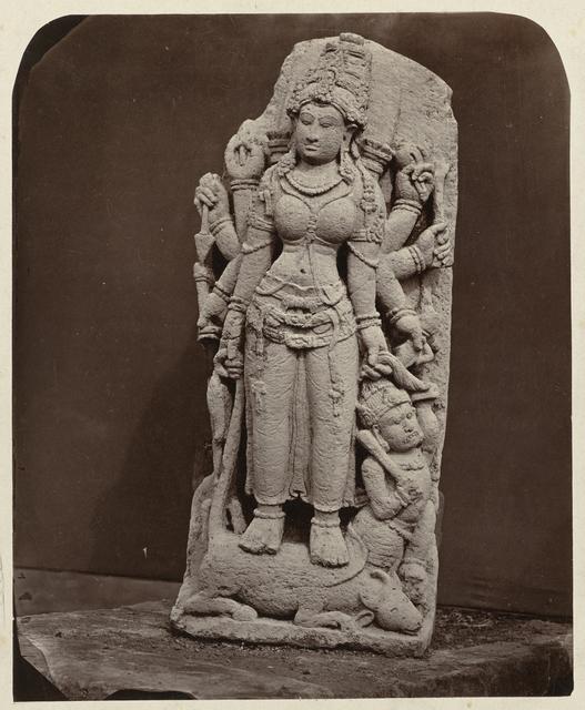 Durga Confronts the Buffalo Demon Mahisha: Scene from the