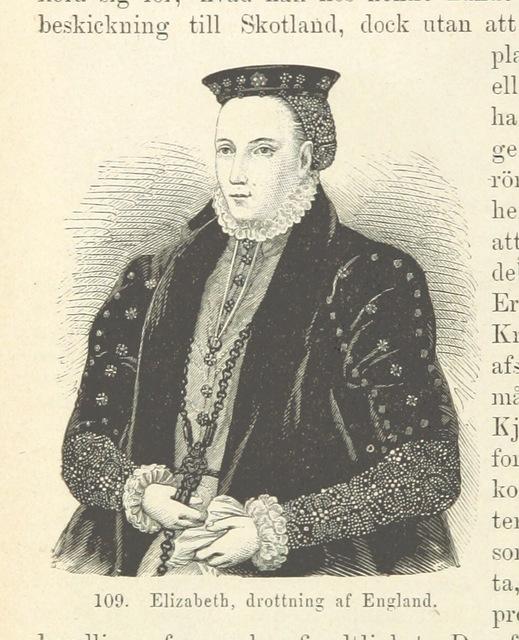 """Elizabeth I of England from """"Sveriges Historia från äldsta tid till våra dagar, etc"""""""