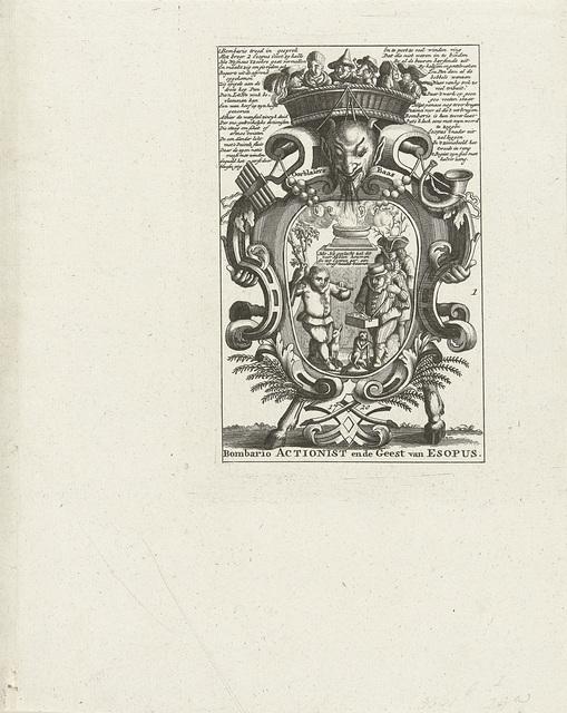 Embleem over de windhandel, 1720