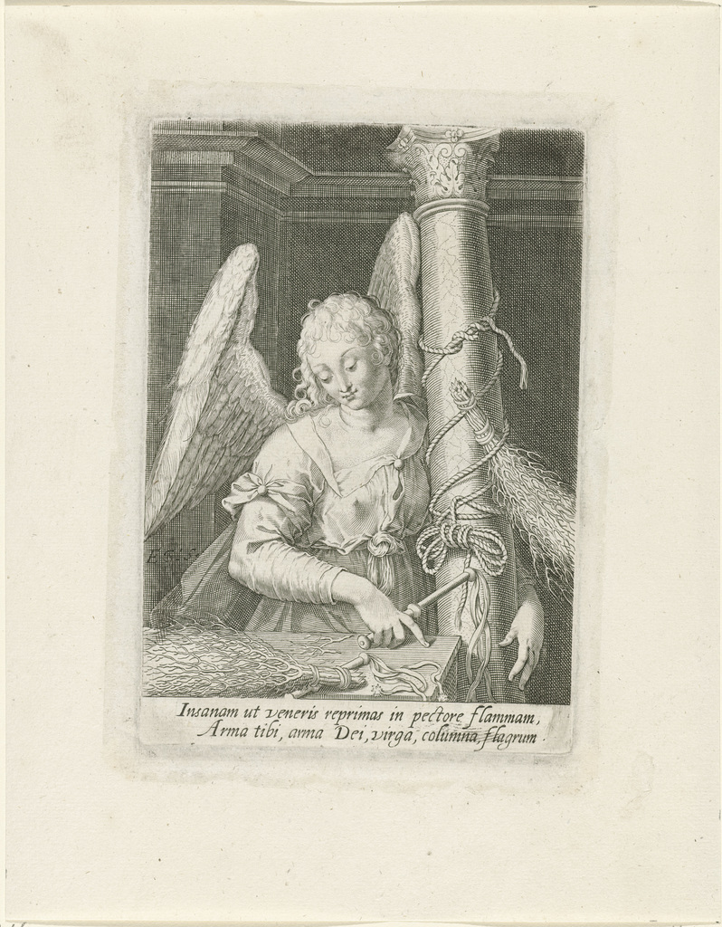 Engel met de zuil, roede en zweep