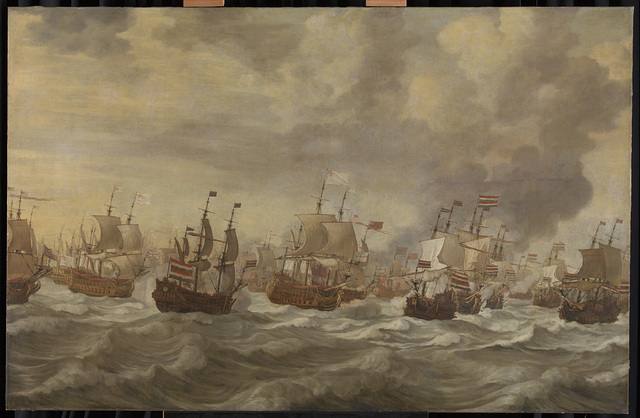Episode from the Four Days' Naval Battle, 11-14 June 1666, of the Second Anglo-Dutch War, 1665-67