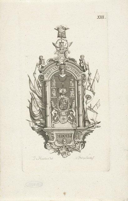 Epitaaf voor de overleden prins Willem IV, 1751