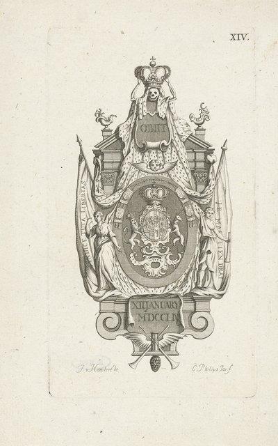 Epitaaf voor de overleden prinses Anna van Hannover, 1759